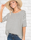 Here and Now Striped Top