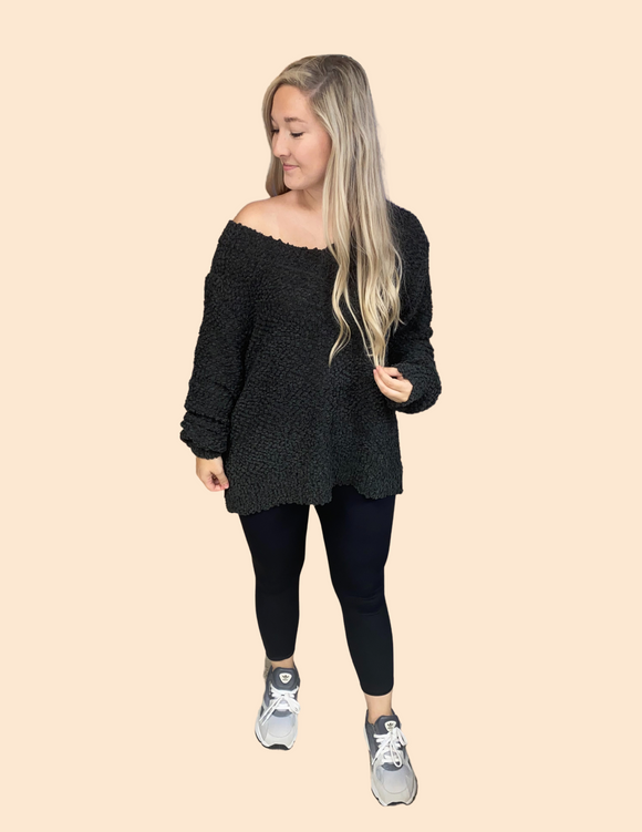 Firefly Popcorn V-Neck Sweater