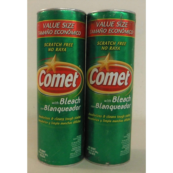 Comet with Bleach Scratch Free 25 oz  - Lot of 2 *