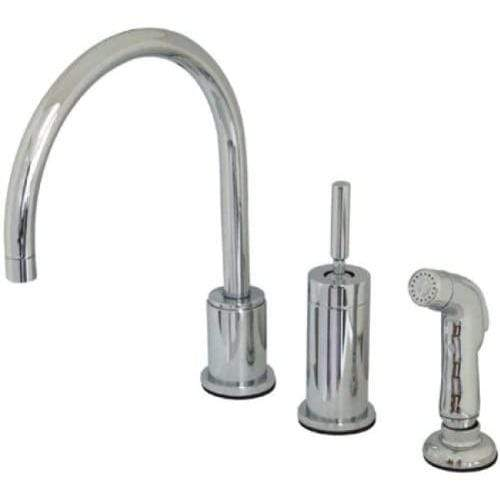 Kingston Brass KS8001DLSP Concord Widespread Kitchen Faucet with Sprayer, Polished Chrome, 8-1/2