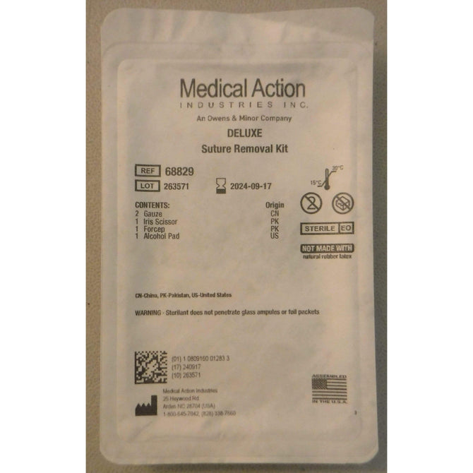 Lot of 41 Medical Action Industries Deluxe Suture Removal Kit 68829 *