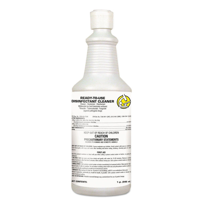Ready-To-Use Disinfectant Cleaner 1qt FlipTop Bottle *