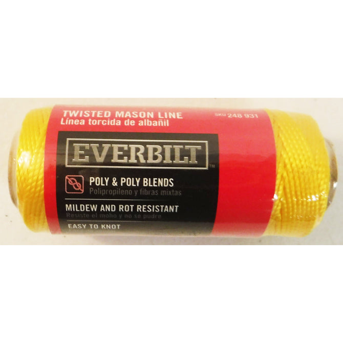 Everbilt Yellow Twisted Mason Line 73246 #18 x 225 ft  * Yellow