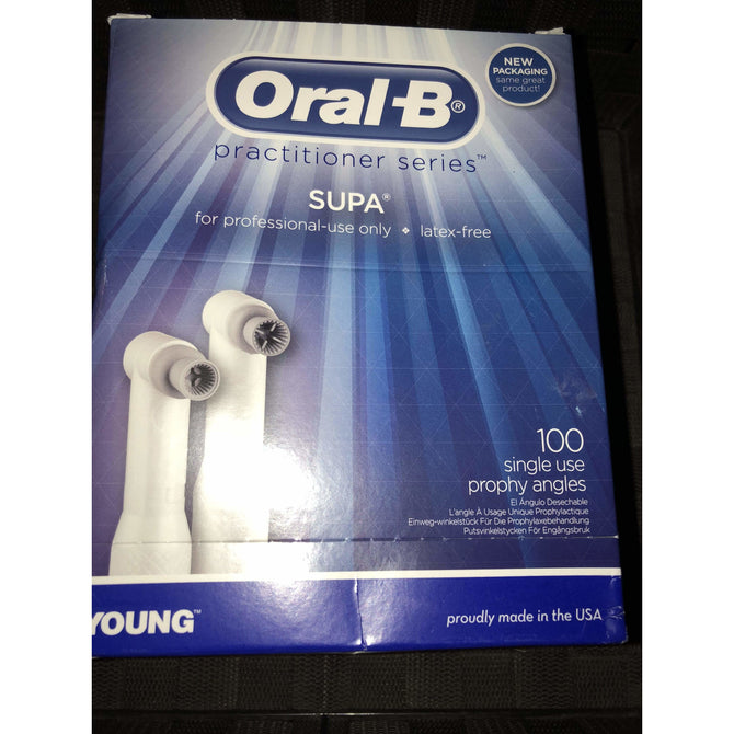 YOUNG Oral-B Supa Prophy Angle Web Latex Free Soft Bx/100