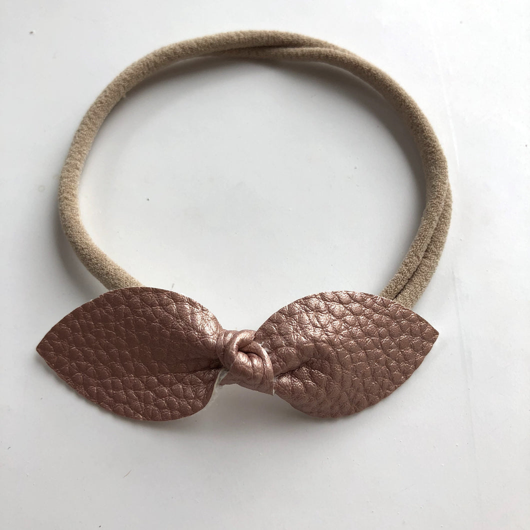 Rose gold petal bow