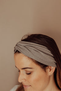 Pewter merino headband