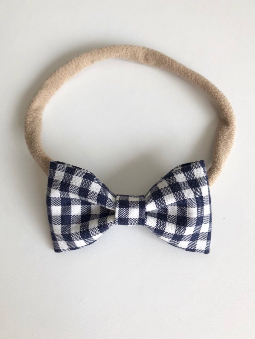 Navy gingham billie bow