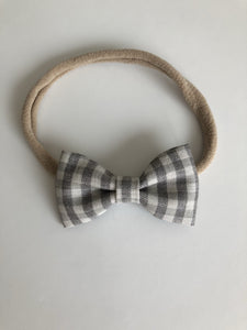 Grey check Billie bow