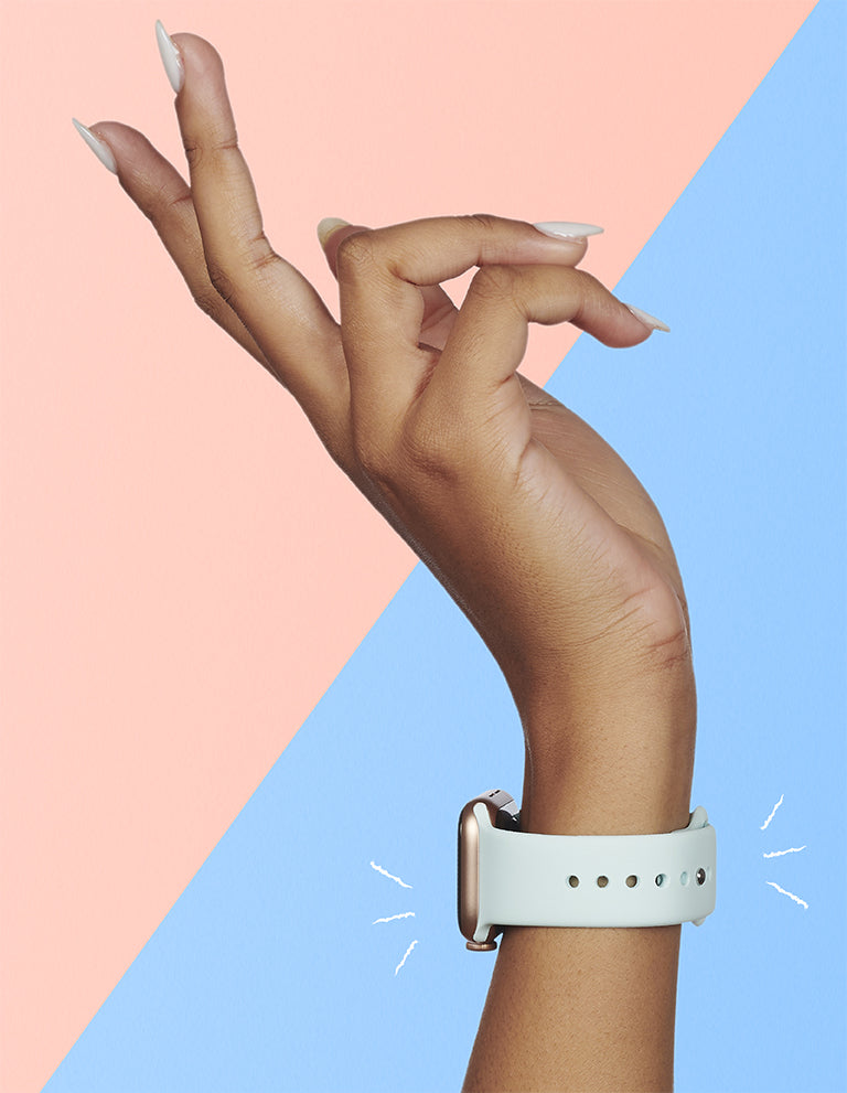 Pastel straps for Apple Watch