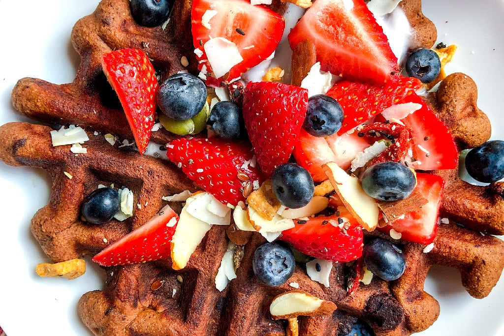 CHRISTINE'S BROWNIE BATTER WAFFLES