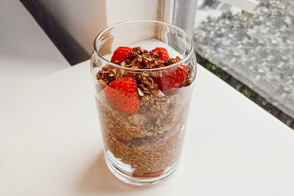 Nikki's Chocolate chia pudding