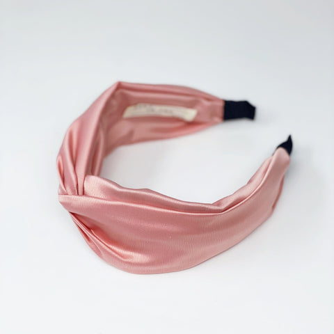 Silk Pink Classic Shape Signature Headband at Born In The Sun - Borninthesun