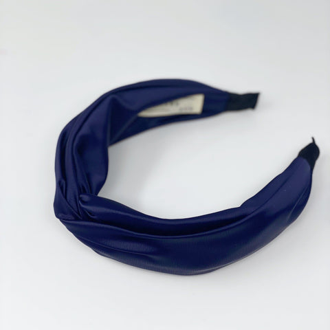 Navy Silk Headband at Born In The Sun - Borninthesun
