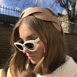 Beige Scalloped shape Headband at Born In The Sun - Borninthesun