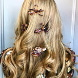 Knot cream and brown Tortoiseshell Effect Hair Clip