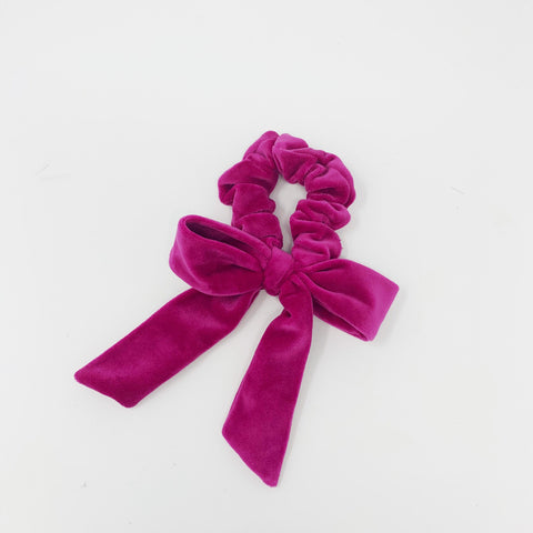 Velvet Magenta Bow Collaboration between A Ross Girl x Born In The Sun