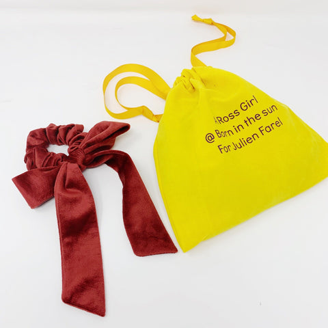 Velvet Irish Red Bow Collaboration between A Ross Girl x Julien Farel at Born In The Sun - Borninthesun