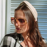Linen Classic shape Headband at Born In The Sun - Borninthesun