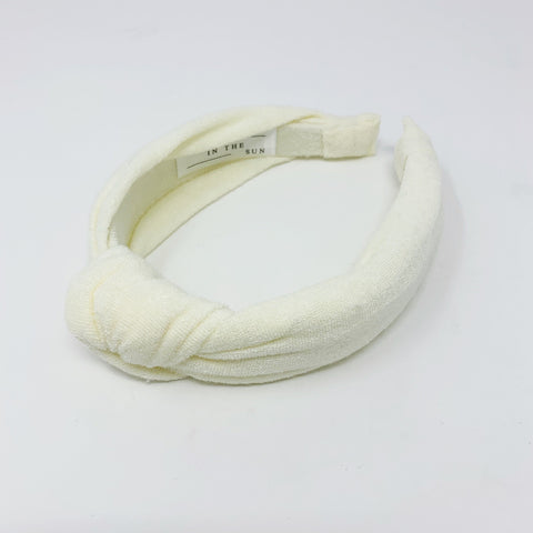 Terry Towelling Cream Headband at Born In The Sun