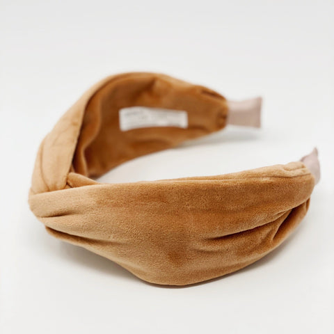 Velvet nude Headband at Born In The Sun - Borninthesun