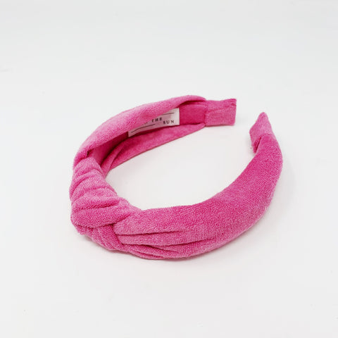 Terry Towelling Rose coloured Headband at Born In The Sun - Borninthesun