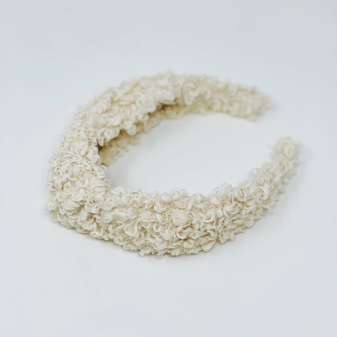 Teddy knotted Cream Headband at Born In The Sun - Borninthesun