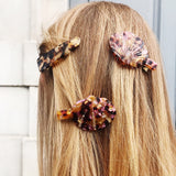 Clam Shaped Tortoiseshell Hair Clip with Clip Fastening at Born In The Sun - Borninthesun