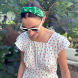 Bandana Green knotted headband at Born In The Sun - Borninthesun