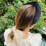 Velvet Classic Black Signature Shape Headband at Born In The Sun - Borninthesun