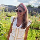 Terry Towelling Peach Headband at Born In The Sun - Borninthesun