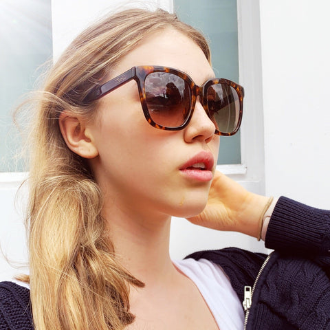 Antibes Style Tortoiseshell Brown Sunglasses at Born In The Sun - Borninthesun