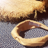 Knotted Raffia Straw Beige Sand Coloured Headband at Born In The Sun - Borninthesun