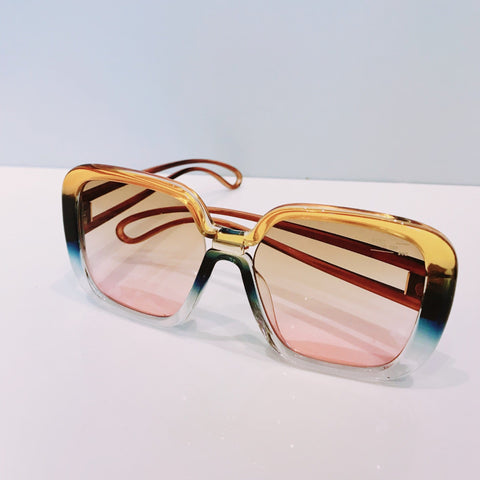 Marlane Style Split Tone Pink and Blue and Brown Graduated Coloured Sunglasses at Born In The Sun - Borninthesun