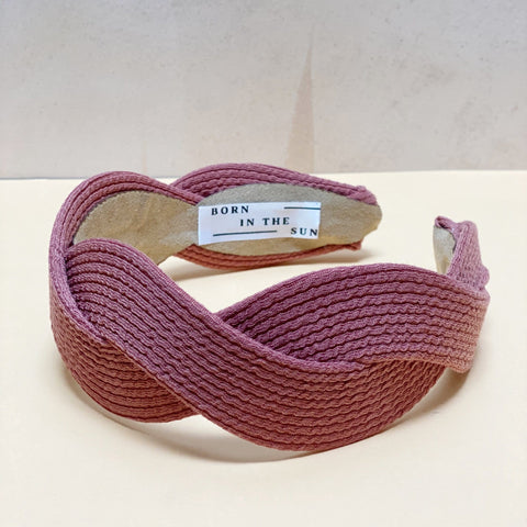 Pink Scalloped shape Headband at Born In The Sun - Borninthesun