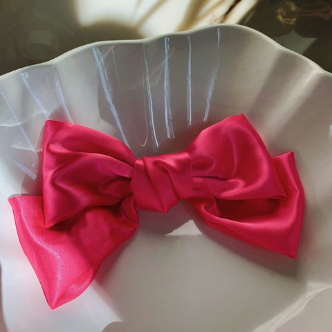 Large Bow Pink with Hair Clip Fastener at Born In The Sun - Borninthesun