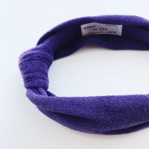 Purple Terry Towelling Headband - Borninthesun
