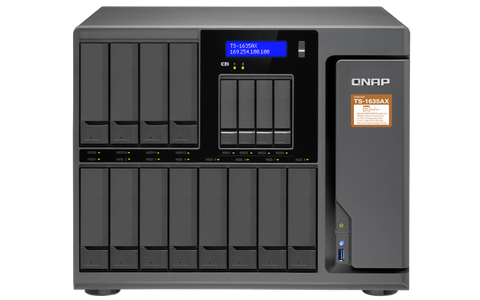TS-1635AX-US QNAP 1635AX 12+4 bay high-capacity 10G NAS DISKLESS