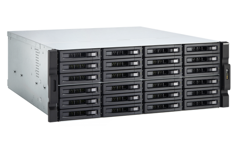 TS-2483XU-RP-E2136-16G QNAP 4U 24-Bay 10GbE NAS and iSCSI IP-SAN Diskless