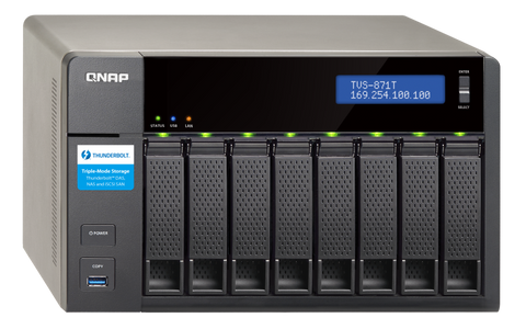 TVS-872XT-i5-16G-US QNAP Ultra-High Speed 8 Bay Thunderbolt™ 3 NAS DISKLESS