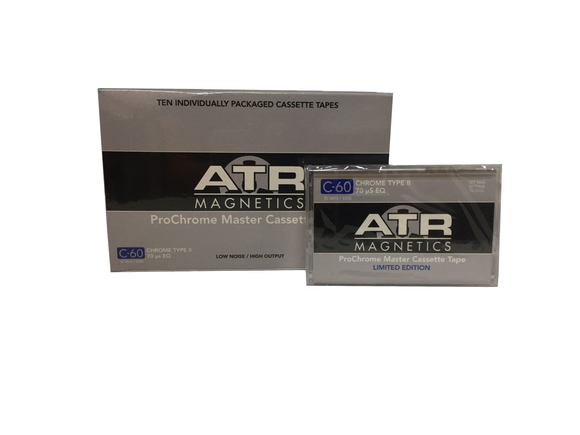 ATR C-60 ProChrome Master Cassette Tape, Box of 10
