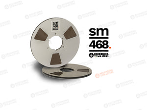 "RTM SM468 1/4"" x 2500 ft, 10.5"" Metal Reel, NAB Hub, Hinged Box"