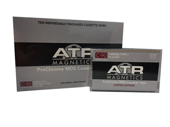 ATR C-90 MDS Cassette Tape, Box of 10