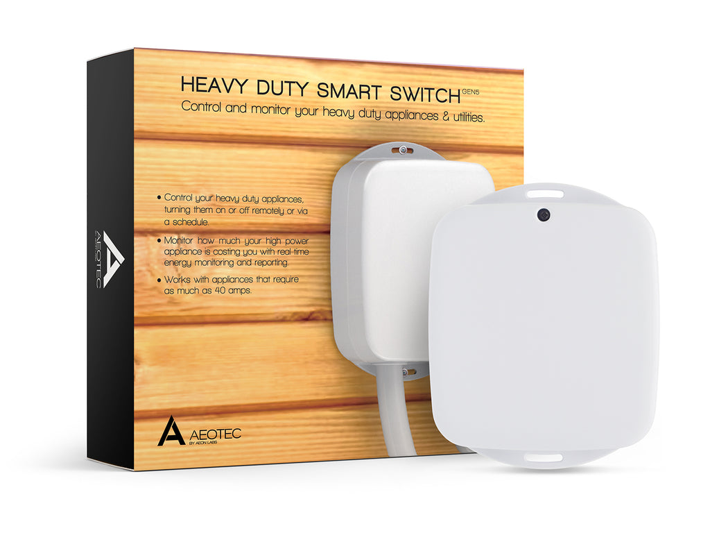 Aeotec Heavy Duty Smart Switch, Z-Wave Plus, Control up to 40 amps