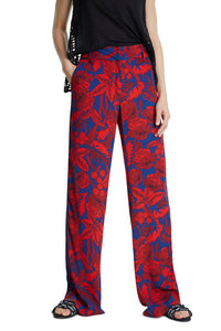 Desigual Palazzo Red Floral Pant