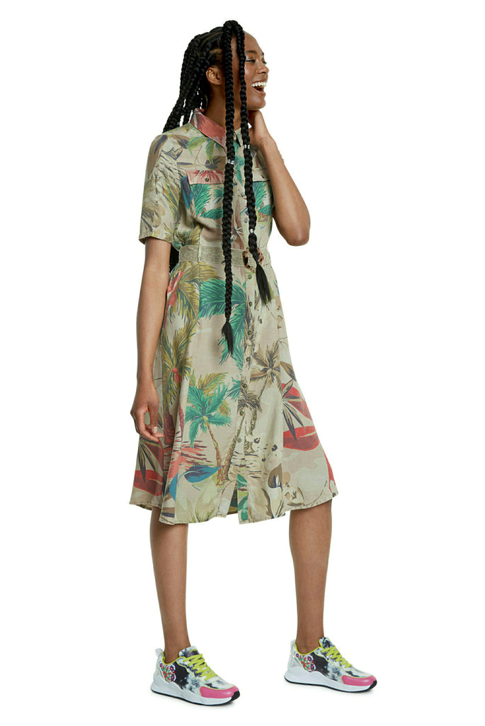 Desigual Beige Safari Dress