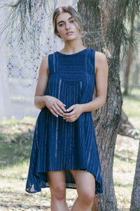 Indigo Desert Parisian Shift Dress