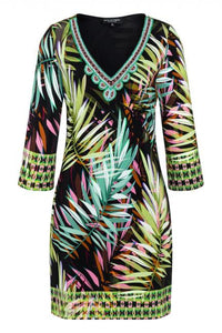 Ana Alcazar 3D Print Palm Dress