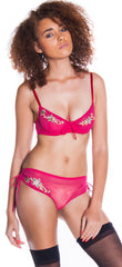 Women's Mesh Underwire Bra and Boy Short Set #1052