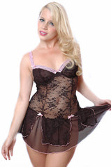 Women's All Over Lace Underwire Teddy #1075