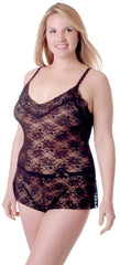 Women's Plus Size All Over Lace Teddy Romper #1079X